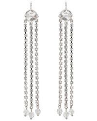 Miu Miu Silver Crystal Drop Earrings