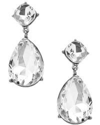 Blu Bijoux Silver Crystal Teardrop Statet Earrings