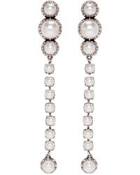 Lanvin Silver Pearl Drop Earrings