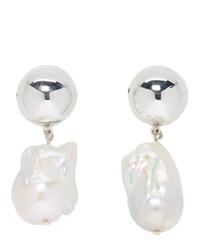 Sophie Buhai Silver Pearl Francis Earrings