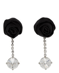 Miu Miu Silver Rose Earrings