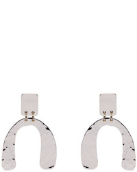 Proenza Schouler Silver Small Hammered Earrings