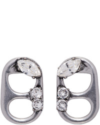 Marc Jacobs Silver Soda Lid Earrings