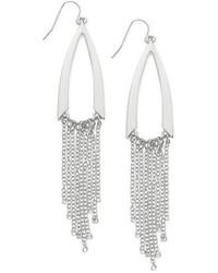 GUESS Silver Tone Multichain Chandelier Earrings
