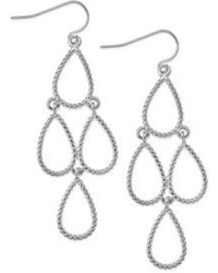 Lauren Ralph Lauren Silver Tone Teardrop Chandelier Earrings