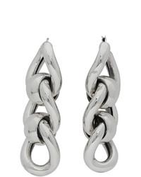 Bottega Veneta Silver Triple Link Earrings