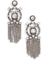 Sole Society Crystal Fringe Statet Earrings