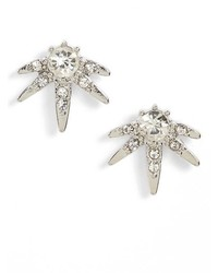 Sole Society Crystal Starburst Stud Earrings
