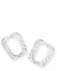 Stephanie Kantis Structure Hammered Earrings Silver