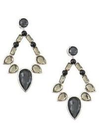 Ippolita Sterling Silver Rock Candy Large Multi Stone Open Teardrop Earrings