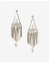 Express Stone Fringe Drop Earrings