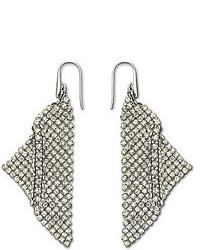 Swarovski Fit Silver Shade Mesh Statet Earrings
