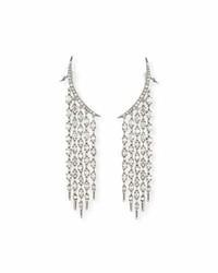 Oscar de la Renta Tendril Crystal Chandelier Earrings