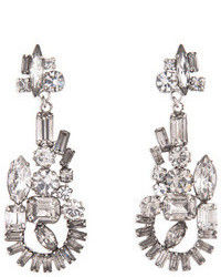 Tom Binns Abstract Crystal Chandelier Earrings