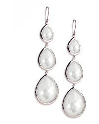 Ippolita Triple Teardrop Earrings In Mother Of Pearl Doublet