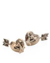 Valentino Garavani Tropical Dream Pierced Heart Stud Earrings
