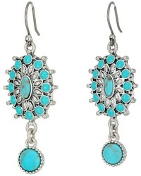 Lucky Brand Turquoise Squash Blossom Earrings Earring