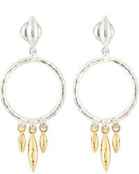 Gurhan Wheat Hoop Drop Earrings