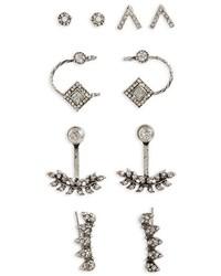 Topshop White Heat Set Of 5 Earrings