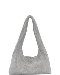 Kara Silver Crystal Mesh Armpit Bag