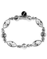 Givenchy Bracelet Silver Tone Crystal Flex Bracelet