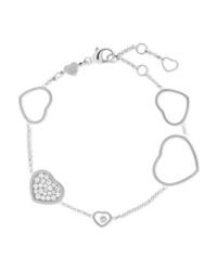 Chopard Happy Hearts 18 Karat White Gold Diamond Bracelet