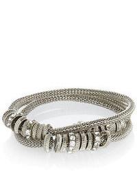 River Island Silver Tone Embellished Stretch Bracelet