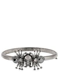 Alexander McQueen Spider And Skull Embellished Bracelet