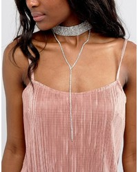 Ashiana Embellished Choker With Lariat Drop