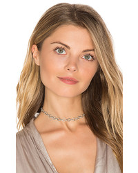 Luv Aj Pave Chain Link Choker In Metallic Silver
