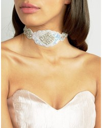 True Decadence Statet Embellished Diamond Choker
