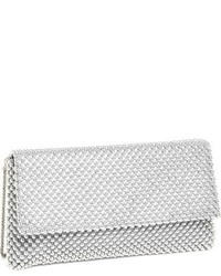 Beaded mesh clutch black medium 1008970
