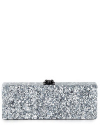 Flavia confetti acrylic clutch bag silver medium 24747