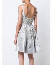 Marchesa Embellished Scoop Neck Dress