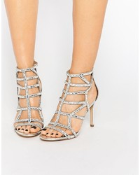 2895c6d7838 ... Aldo Norta Silver Heeled Cut Out Embellished Sandals