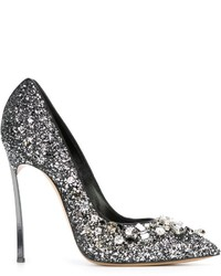 Casadei Embellished Glitter Pumps