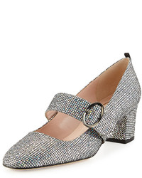 Sarah Jessica Parker Sjp By Tartt Sparkly Mary Jane Pump Blacksilver