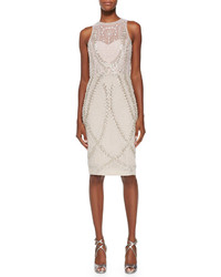 Rachel Gilbert Avalon Sleeveless Embellished Tulle Dress