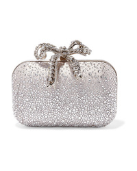 Jimmy Choo Cloud Crystal Embellished Satin Clutch