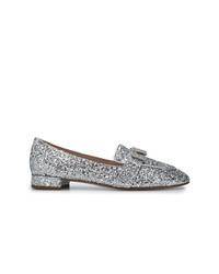 Miu Miu Embellished Moccasin Loafers
