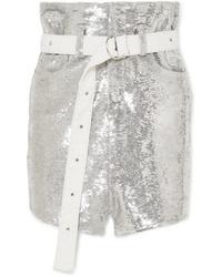 IRO Natou Sequined Twill Mini Skirt
