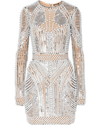 Balmain Embellished Tulle Mini Dress