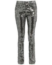 Saint Laurent Sequin Embellished Skinny Jeans