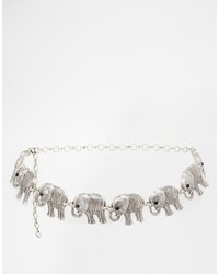 Black And Brown Black Brown Elephant Chain Belt