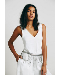 Free People Chain Fringe Skirt Belt