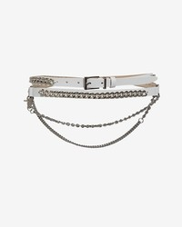 Barbara Bui Curb Chain Detail Leather Wrap Belt