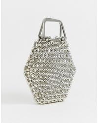ASOS EDITION Hexagon Bead Bag