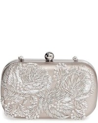 Floral metallic embroidered clutch metallic medium 801369