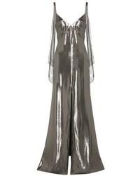 Saint Laurent Metallic Silk Blend Dress