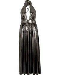River Island Metallic Silver Choker Maxi Dress